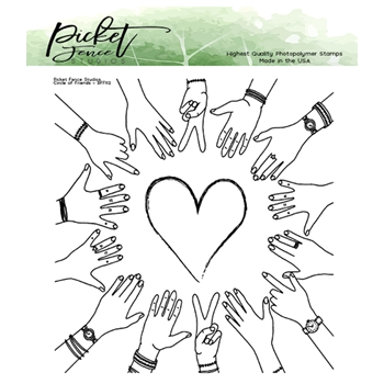 Picket Fence Studios BFF CIRCLE OF FRIENDS Clear Stamp bff112