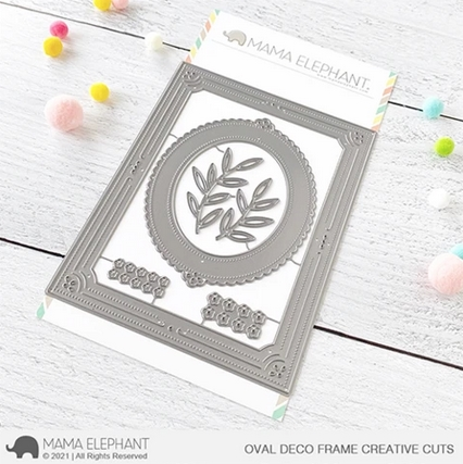 Mama Elephant OVAL DECO FRAME Creative Cuts Steel Dies Preview Image