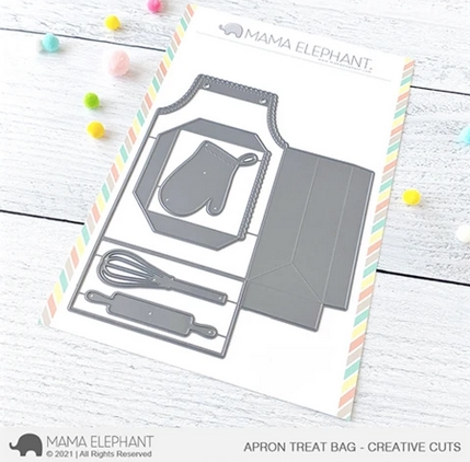 Mama Elephant APRON TREAT BAG Creative Cuts Steel Dies Preview Image