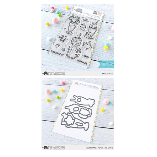 Mama Elephant Clear Stamp and Die MEPT887 Milkshake SET Preview Image