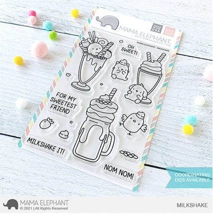 Mama Elephant Clear Stamps MILKSHAKE Preview Image