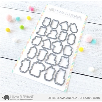 Mama Elephant LITTLE LLAMA AGENDA Creative Cuts Steel Dies