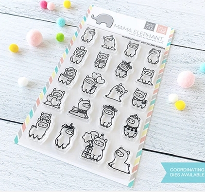 Mama Elephant Clear Stamps LITTLE LLAMA AGENDA  Preview Image