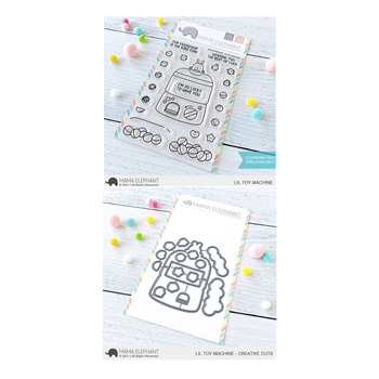 Mama Elephant Clear Stamp and Die MEPT893 Lil Toy Machine SET