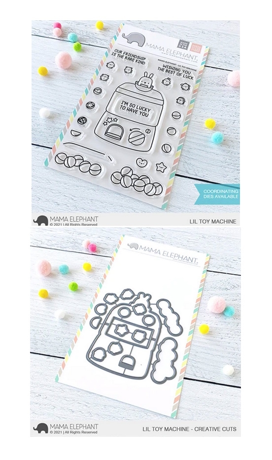 Mama Elephant Clear Stamp and Die MEPT893 Lil Toy Machine SET zoom image