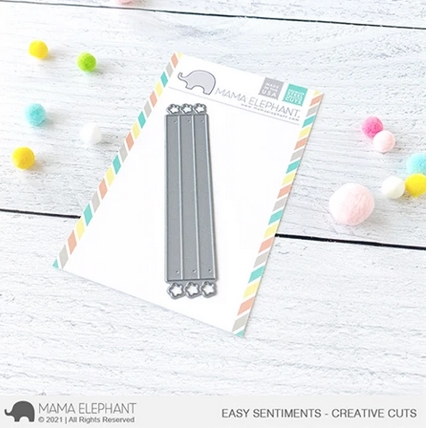 Mama Elephant EASY SENTIMENTS Creative Cuts Steel Dies Preview Image