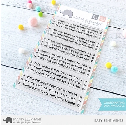 Mama Elephant Clear Stamps EASY SENTIMENTS Preview Image