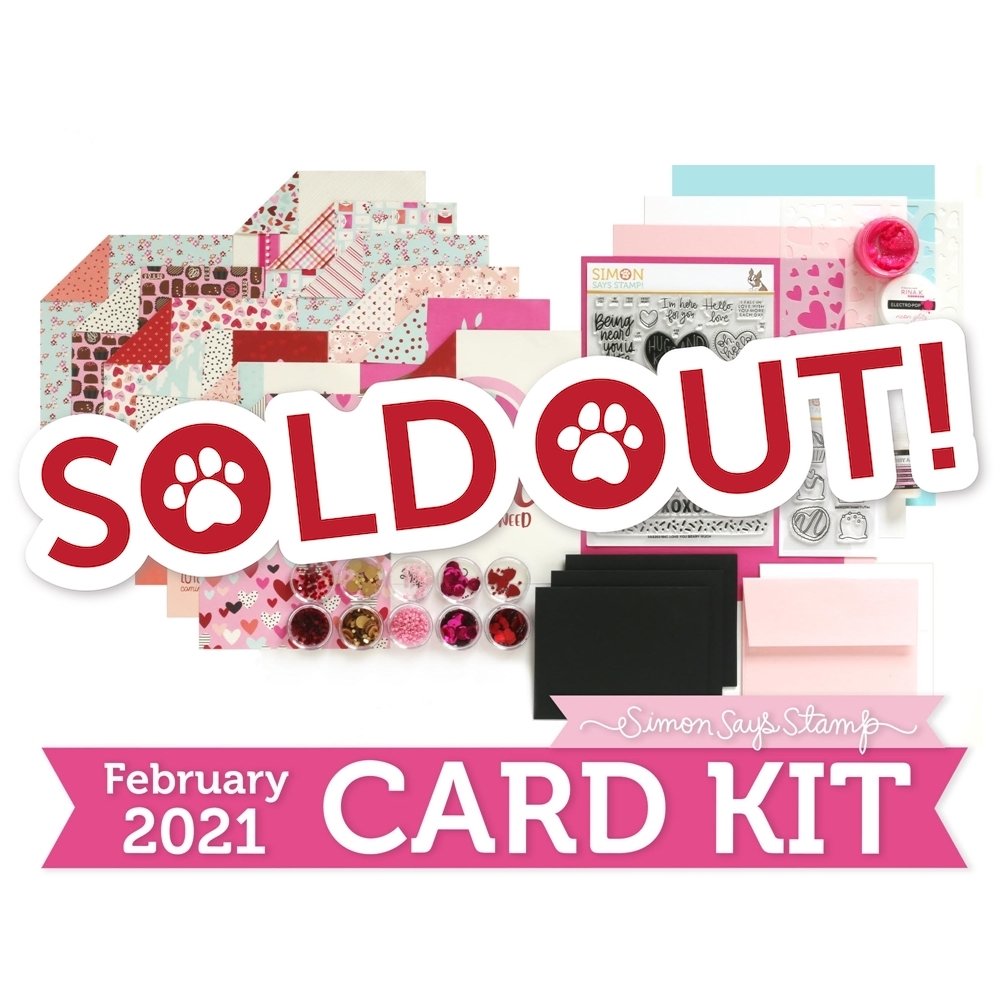 Simon Says Stamp Card Kit of the Month February 2021 LOVE YOU BEARY MUCH ck0221 zoom image