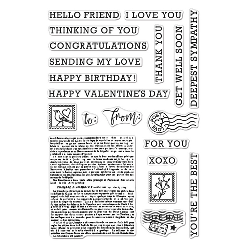 Hero Arts Clear Stamps SENDING LOVE MAIL CM508 Preview Image