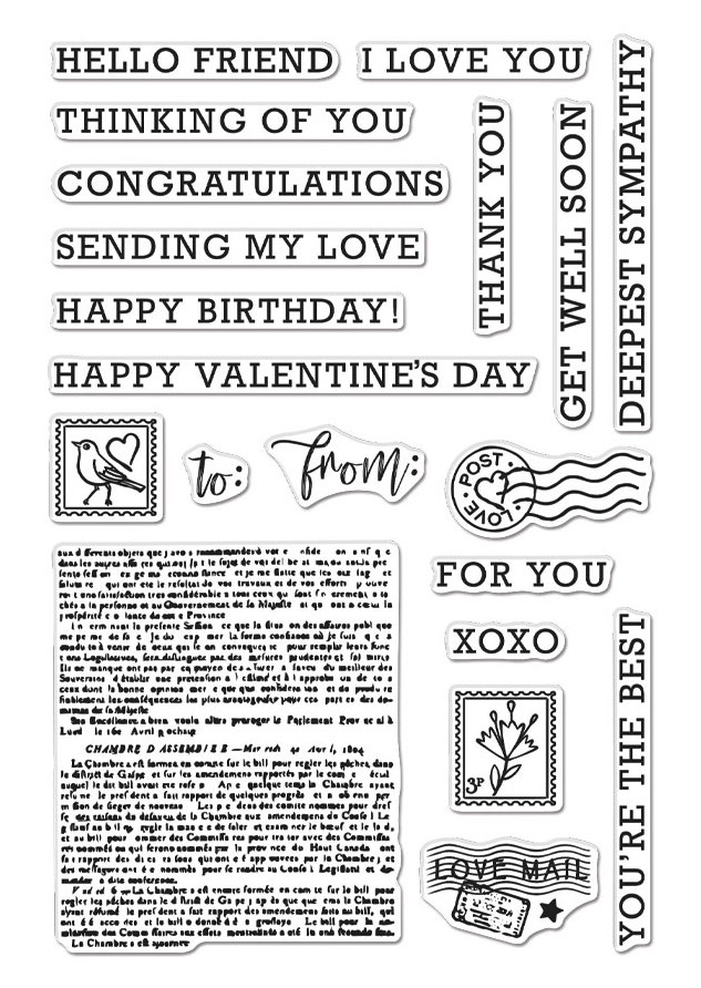Hero Arts Clear Stamps SENDING LOVE MAIL CM508 zoom image