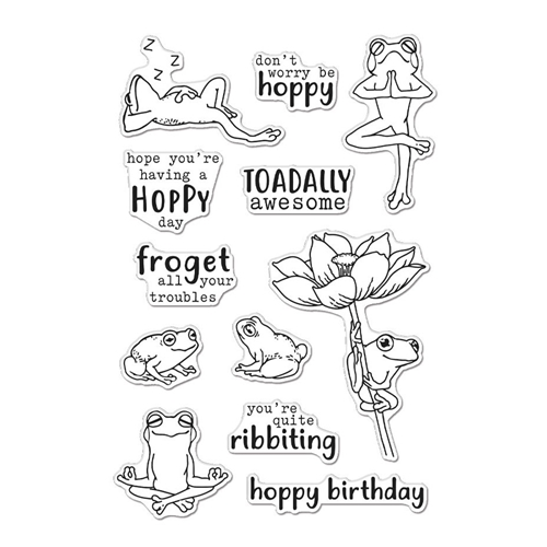 Hero Arts Clear Stamps HOPPY DAY CM507 Preview Image