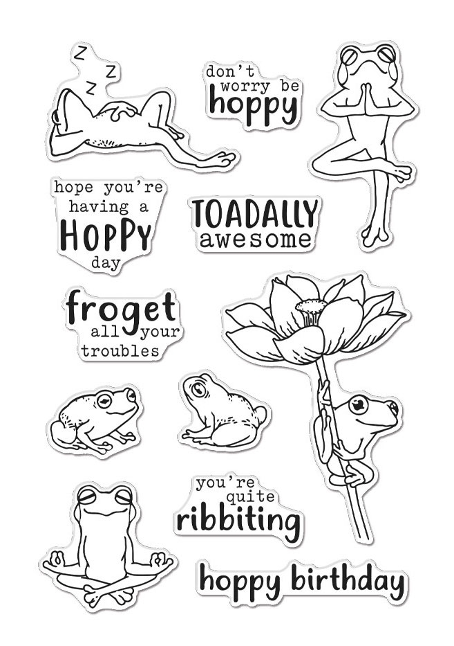 Hero Arts Clear Stamps HOPPY DAY CM507 zoom image