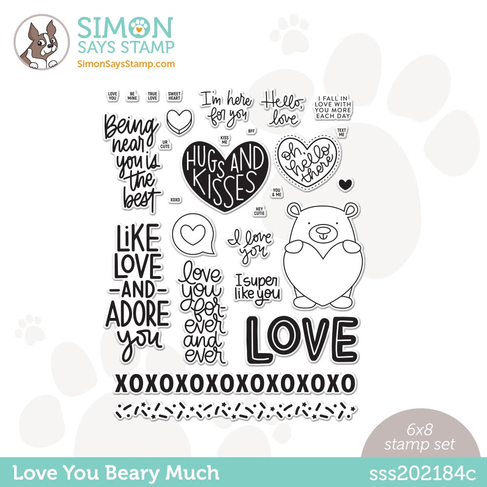 Simon Says Clear Stamps LOVE YOU BEARY MUCH sss202184c zoom image