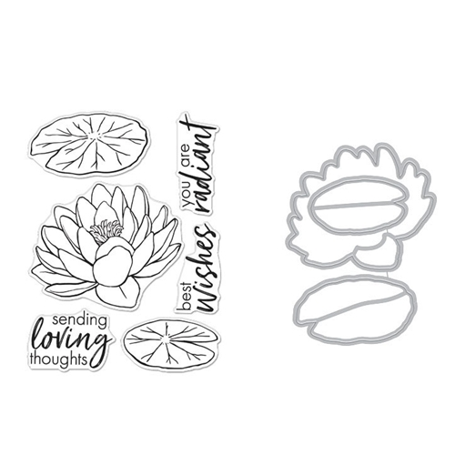 Hero Arts FLORALS LOTUS Clear Stamp and Die Combo SB271 Preview Image