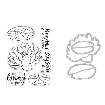 Hero Arts FLORALS LOTUS Clear Stamp and Die Combo SB271
