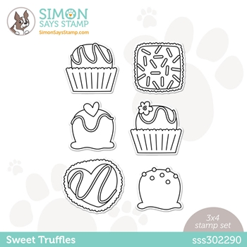 Simon Says Clear Stamps SWEET TRUFFLES sss302290