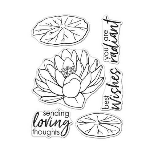 Hero Arts Clear Stamps FLORALS LOTUS CM504 Preview Image