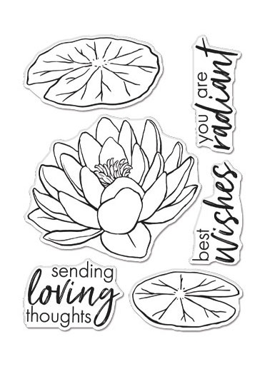 Hero Arts Clear Stamps FLORALS LOTUS CM504 zoom image