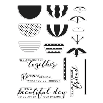 Hero Arts Partnership Reverse Confetti BETTER TOGETHER Clear Stamps PR108