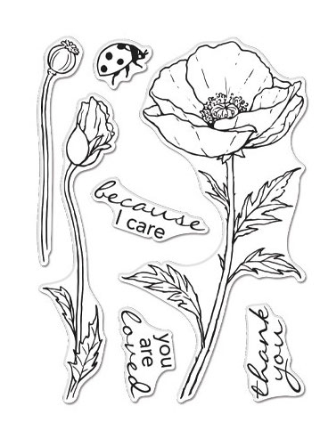Hero Arts Clear Stamps FLORALS POPPY CM503 Preview Image