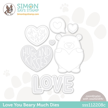 Simon Says Stamp LOVE YOU BEARY MUCH Wafer Dies sssd112208c