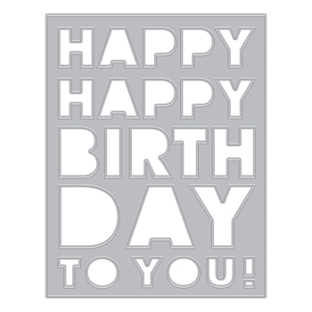 Hero Arts Fancy Die BIRTHDAY MESSAGE Cover Plate DI842