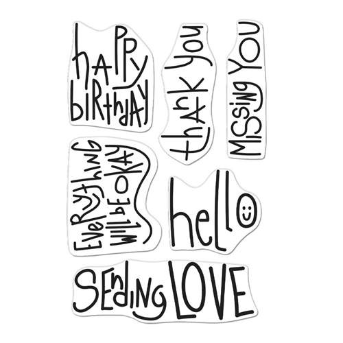 Hero Arts Clear Stamps HANDWRITTEN MESSAGES CM506 Preview Image
