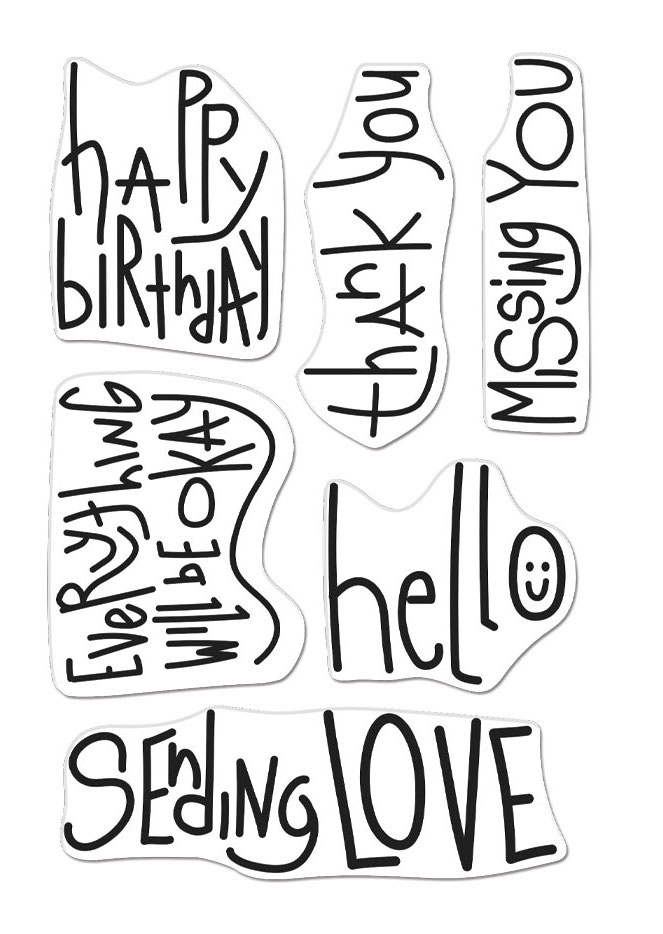 Hero Arts Clear Stamps HANDWRITTEN MESSAGES CM506 zoom image