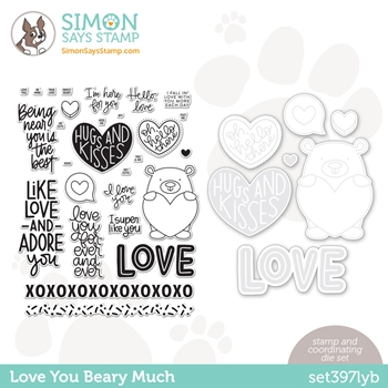 Simon Says Stamps and Dies LOVE YOU BEARY MUCH set397lyb **