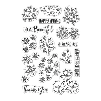 Hero Arts Clear Stamps LIFE IS BEAUTIFUL CM505