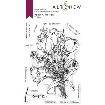 Altenew PAINT A FLOWER TULIPS Clear Stamps ALT4665