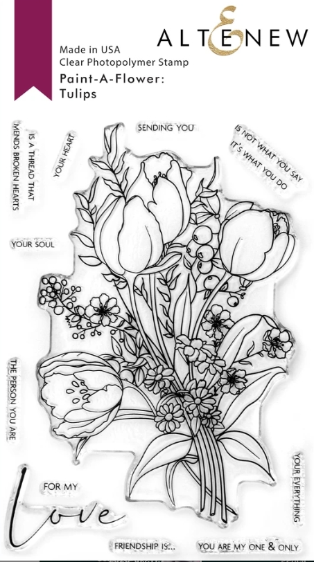 Altenew PAINT A FLOWER TULIPS Clear Stamps ALT4665 zoom image