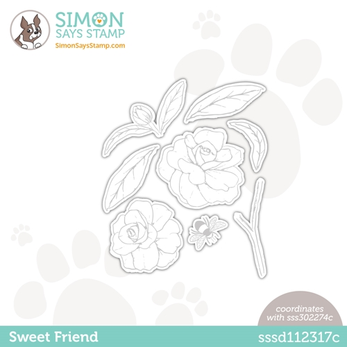 Simon Says Stamp SWEET FRIEND Wafer Dies sssd112317c Love You Too Preview Image