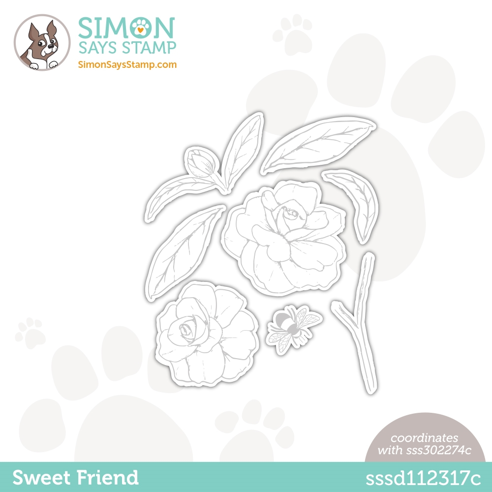 Simon Says Stamp SWEET FRIEND Wafer Dies sssd112317c Love You Too zoom image