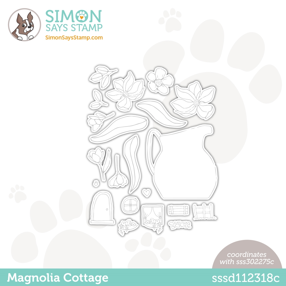 Simon Says Stamp MAGNOLIA COTTAGE Wafer Dies sssd112318c Love You Too zoom image
