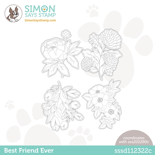 Simon Says Stamp BEST FRIEND EVER Wafer Dies sssd112322c Love You Too Preview Image
