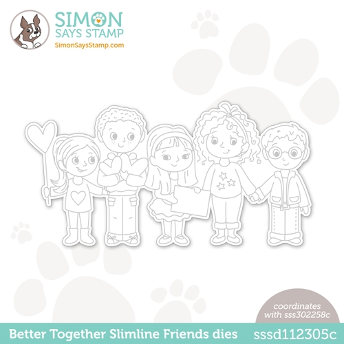 Simon Says Stamp BETTER TOGETHER SLIMLINE FRIENDS Wafer Die sssd112305c Love You Too Preview Image