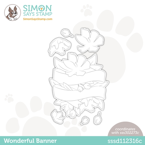 Simon Says Stamp WONDERFUL BANNER Wafer Dies sssd112316c Love You Too Preview Image