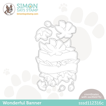 Simon Says Stamp WONDERFUL BANNER Wafer Dies sssd112316c Love You Too