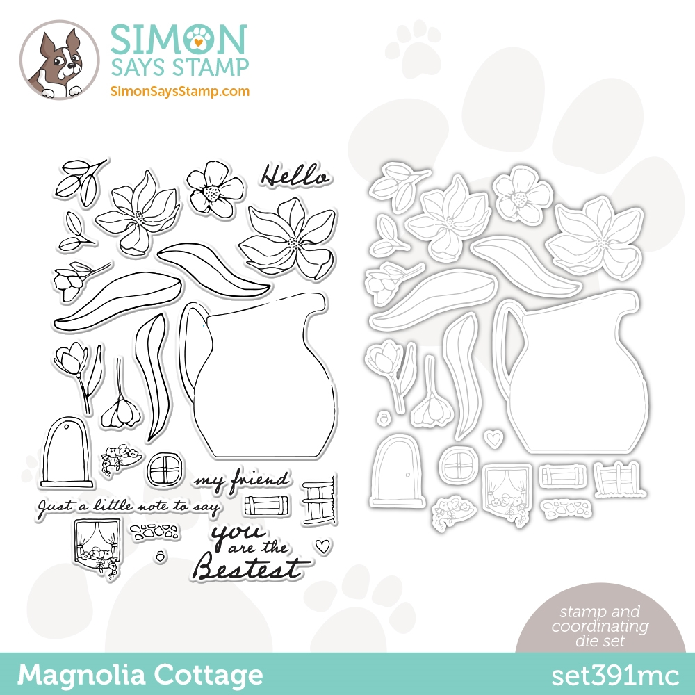 Simon Says Stamps and Dies MAGNOLIA COTTAGE set391mc Love You Too zoom image