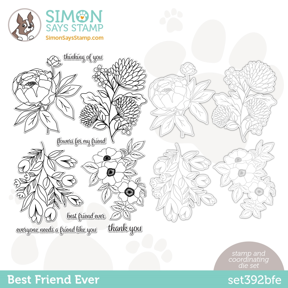 Simon Says Stamps and Dies BEST FRIEND EVER set392bfe Love You Too zoom image