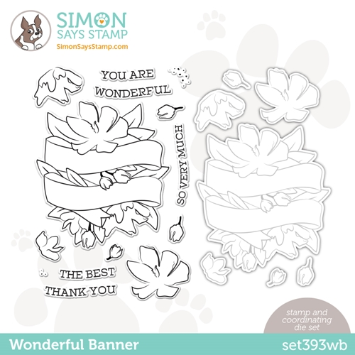 Simon Says Stamps and Dies WONDERFUL BANNER set393wb Love You Too Preview Image