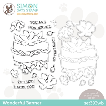 Simon Says Stamps and Dies WONDERFUL BANNER set393wb Love You Too