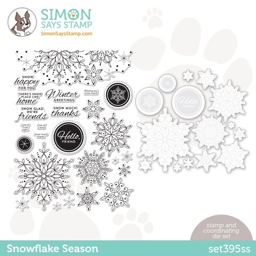 Simon Says Stamps and Dies SNOWFLAKE SEASON set395ss Love You Too Preview Image