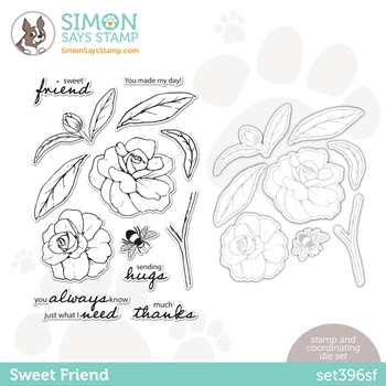 Simon Says Stamps and Dies SWEET FRIEND set396sf Love You Too