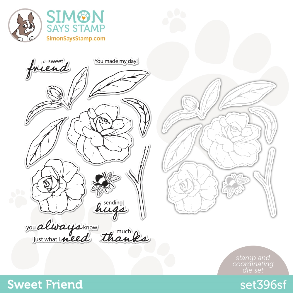 Simon Says Stamps and Dies SWEET FRIEND set396sf Love You Too zoom image