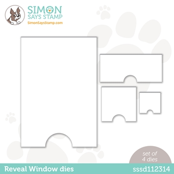Simon Says Stamp SURPRISE REVEAL WINDOW Wafer Dies sssd112314 Love You Too