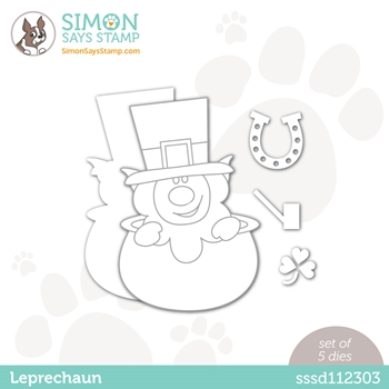 Simon Says Stamp LEPRECHAUN Wafer Dies sssd112303 Love You Too