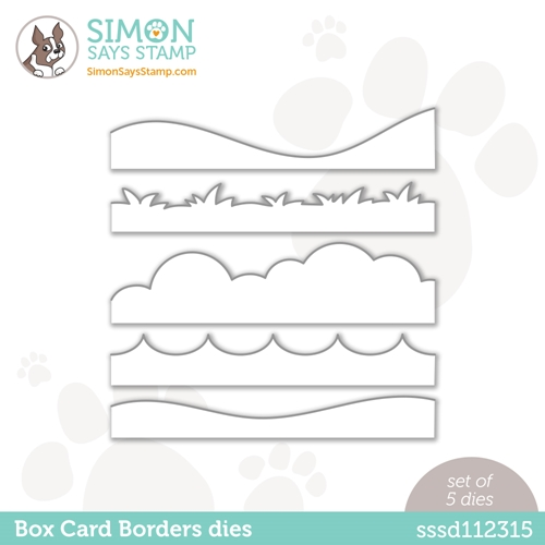 Simon Says Stamp BOX CARD BORDERS Wafer Dies sssd112315 Love You Too Preview Image