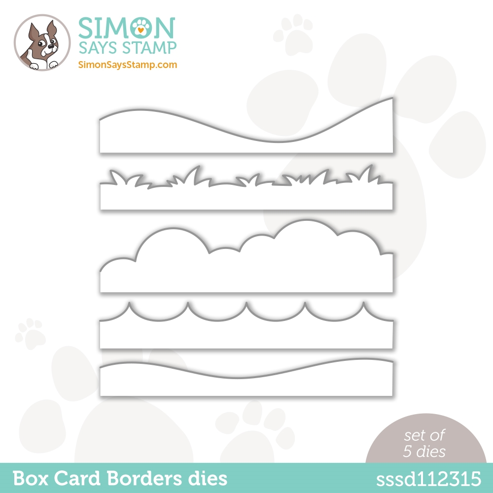 Simon Says Stamp BOX CARD BORDERS Wafer Dies sssd112315 Love You Too zoom image